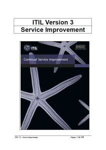 ITIL Service Improvement